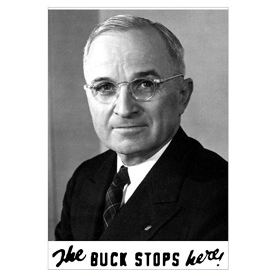 The Buck Stops Here! Canvas Art