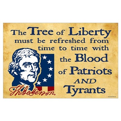 Thomas Jefferson Tree of Liberty Poster