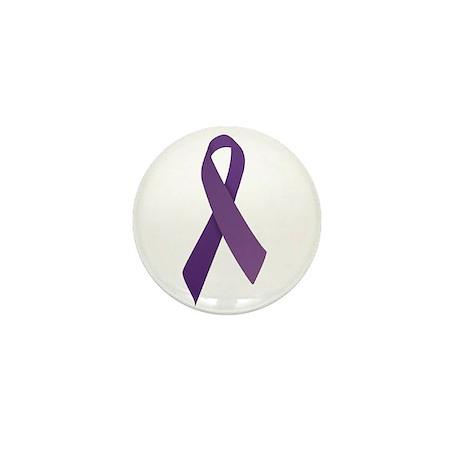 Purple Ribbons Mini Button