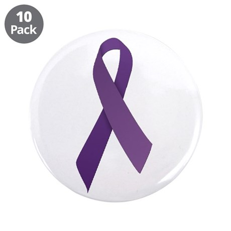 """Purple Ribbons 3.5"""" Button (10 pack)"""