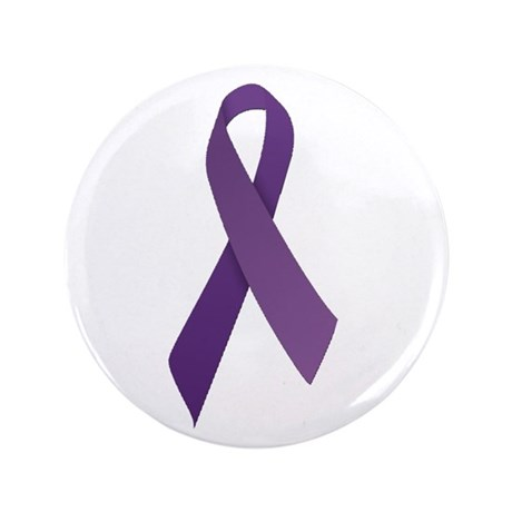 """Purple Ribbons 3.5"""" Button (100 pack)"""