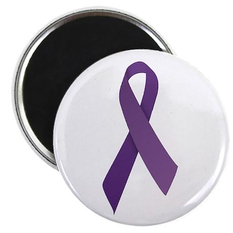 "Purple Ribbons 2.25"" Magnet (100 pack)"