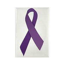 Purple Ribbons Rectangle Magnet