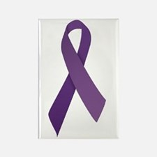 Purple Ribbons Rectangle Magnet