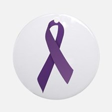 Purple Ribbons Ornament (Round)
