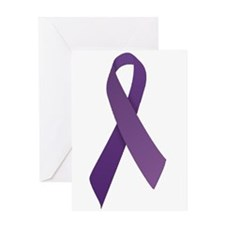 Purple Ribbons Greeting Card