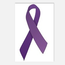 Purple Ribbons Postcards (Package of 8)