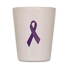 Purple Ribbons Shot Glass