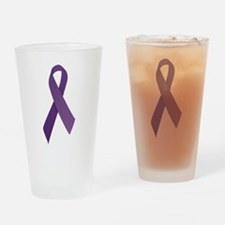 Purple Ribbons Drinking Glass