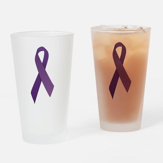 Purple Ribbons Drinking Glass