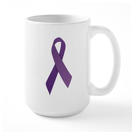 Purple Ribbons Large Mug