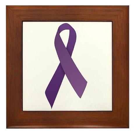 Purple Ribbons Framed Tile