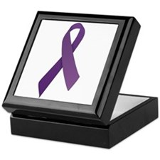 Purple Ribbons Keepsake Box