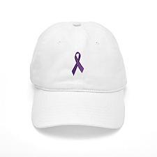 Purple Ribbons Baseball Baseball Cap