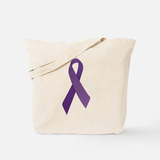 Purple Ribbons Tote Bag