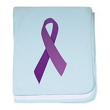 Purple Ribbons baby blanket