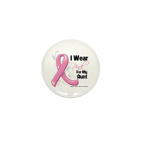 I Wear Pink For My Aunt Mini Button (10 pack)