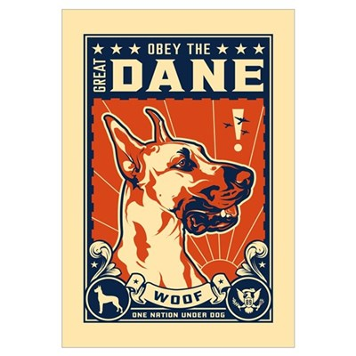Obey the Great Dane! Canvas Art