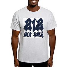 """New York """"Yankees Colors"""" Ash Grey T-Shirt"""