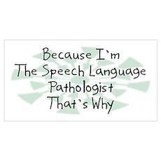 Because Speech Language Pathologist Pr Poster