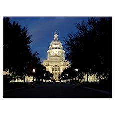 Austin Texas Capitol Poster