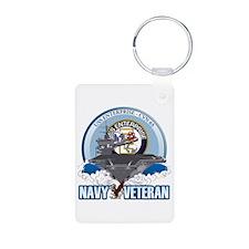 CVN-65 USS Enterprise Aluminum Photo Keychain