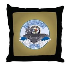 CVN-65 USS Enterprise Throw Pillow