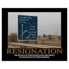 Resignation Motivational Poster