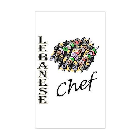 LB Chef Rectangle Sticker