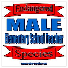 Male Elem Tchr - Endangered Species Poster