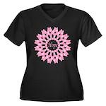 Circle of Hope Women's Plus Size V-Neck Dark T-Shi