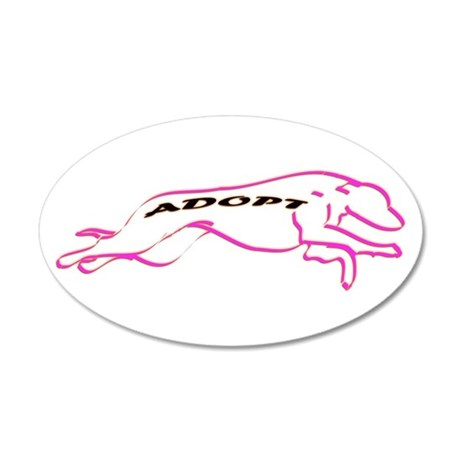 Adopt Pink 22x14 Oval Wall Peel