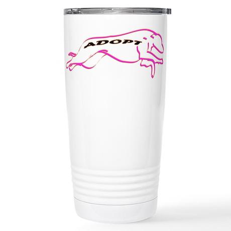Adopt Pink Stainless Steel Travel Mug