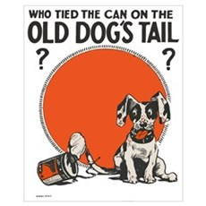 Old Dogs Tail Vintage Art Canvas Art
