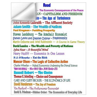 of Reading List for Economics Wall Decal