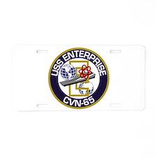 CVN-65 USS Enterprise Aluminum License Plate