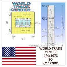 9/11 WTC Tower Floor Plan Poster