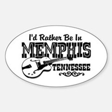 Memphis Tennessee Sticker (Oval)