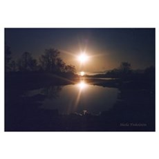 Mystical Sunrise in Laurence Harbor Poster