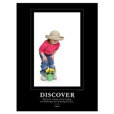 : DISCOVER - 9x12 Print Framed Print