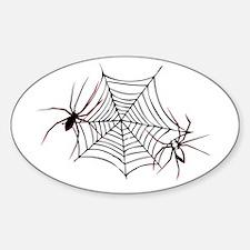 spider web Sticker (Oval)