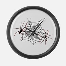 spider web Large Wall Clock