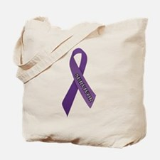 Purple Ribbon 'Survivor' Tote Bag