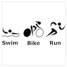 Swim Bike Run Poster