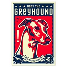 Obey the Greyhound! U.S. Canvas Art