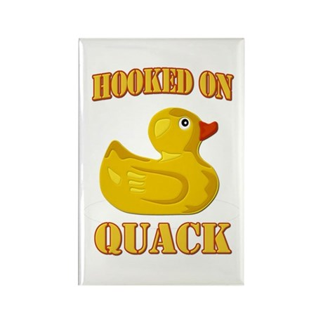 Hooked on Quack Rectangle Magnet (100 pack)