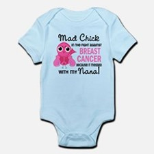 Mad Chick 2 Breast Cancer Infant Bodysuit