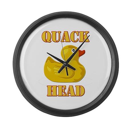 Quack Head Large Wall Clock