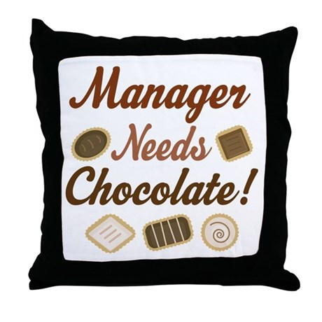 Manager Gift Funny Throw Pillow