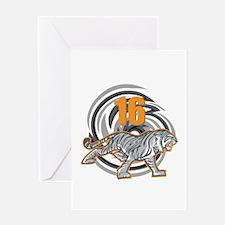 16th Birthday Tiger Greeting Card